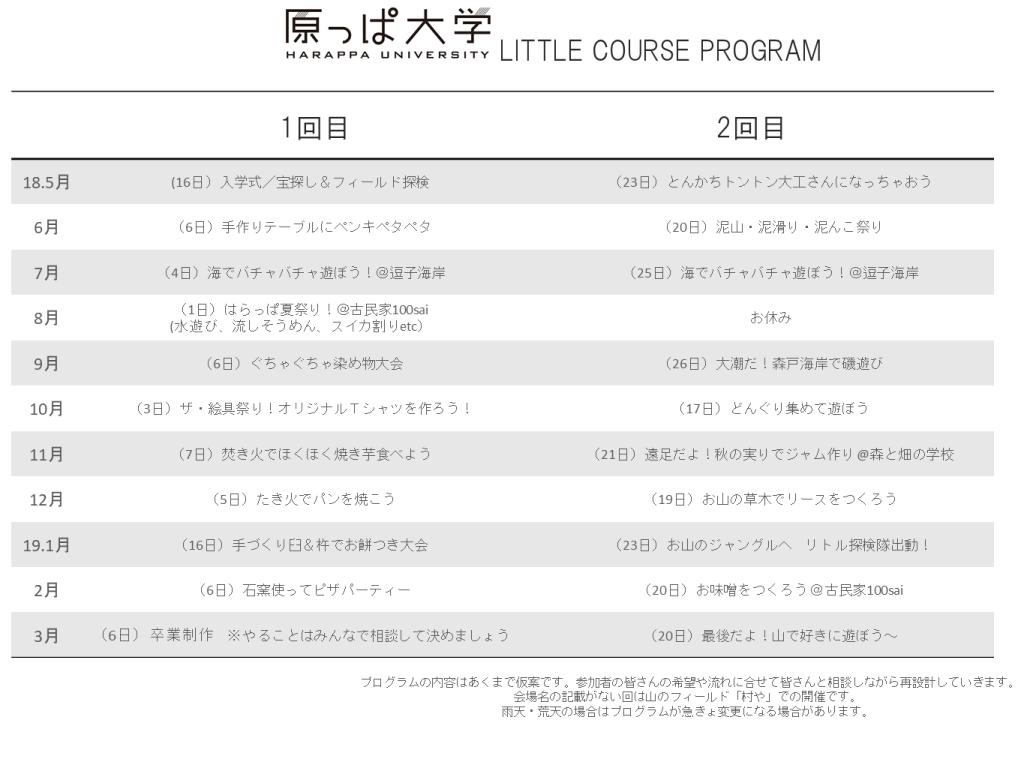 平日3期プログラム